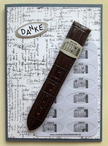 Dankeskarte mit Uhrenarmbandkalender