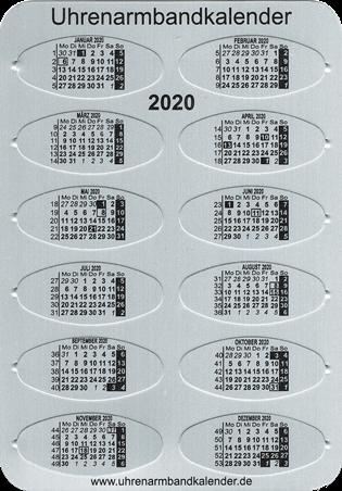 Foto Uhrenarmbandkalender 2020