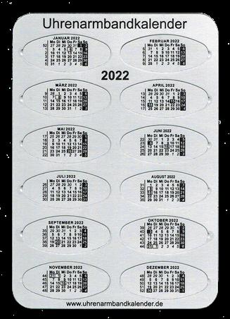 Foto Uhrenarmbandkalender 2022