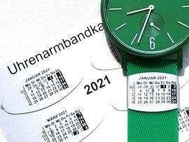Kalender am Uhrenarmband